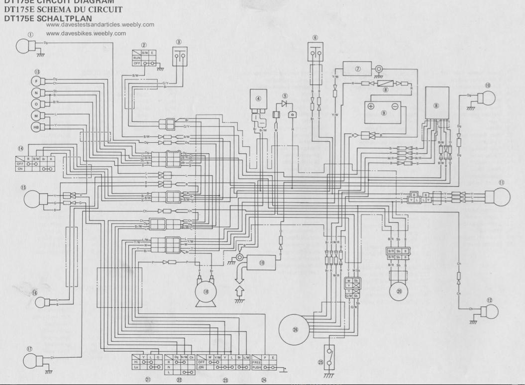 1975 Yamaha Dt 175 Wiring Diagram - Wiring Diagram
